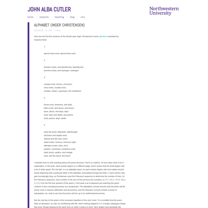 alphabet (Inger Christensen)