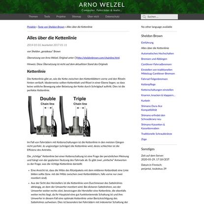 Alles über die Kettenlinie | Arno Welzel