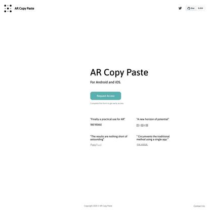 AR Copy Paste