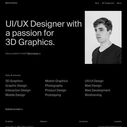 Matus Hatala - UI/UX Designer