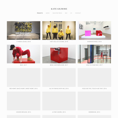 Projects — KATE GILMORE