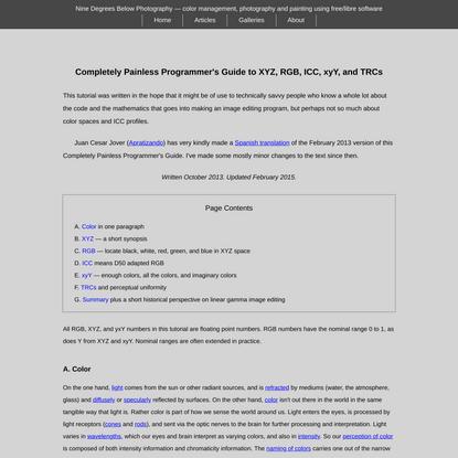 Programmer's Guide to XYZ, RGB