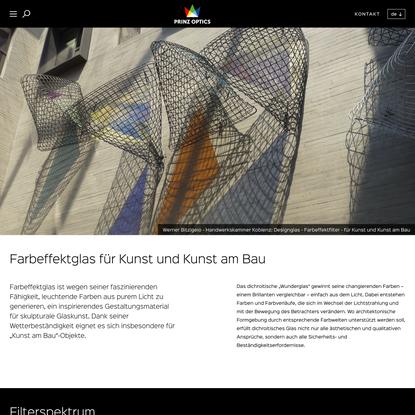 Farbeffektglas für Kunst und Kunst am Bau | PRINZ OPTICS