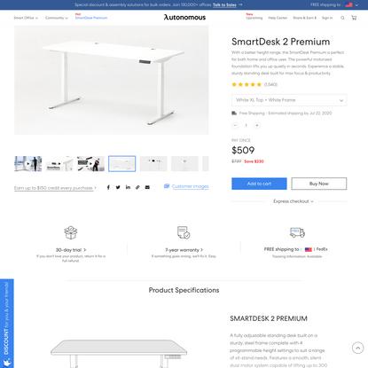 SmartDesk Premium - Most Affordable Office Standing Desk