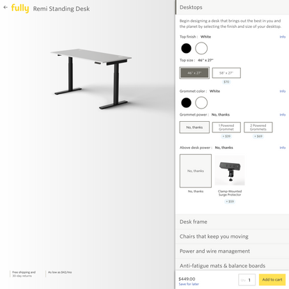 Remi Standing Desk   Design your own /