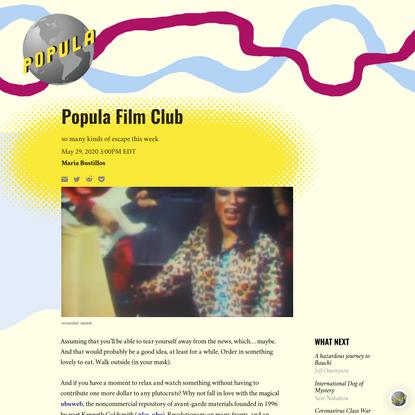 Popula Film Club – Popula