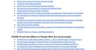 Prison Abolition and Alternatives to Incarceration Starter Resources