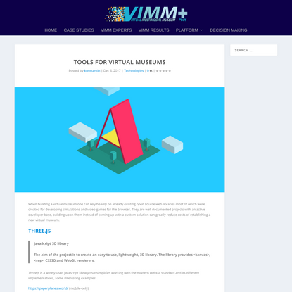 Tools for Virtual Museums   ViMM