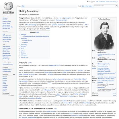 Philipp Mainländer - Wikipedia
