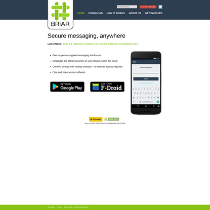 Secure messaging, anywhere - Briar