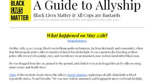 A Guide to Allyship (5/28/2020)