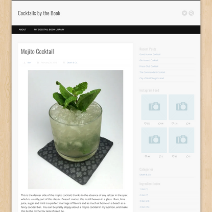 Mojito Cocktail - Cocktails by the Book