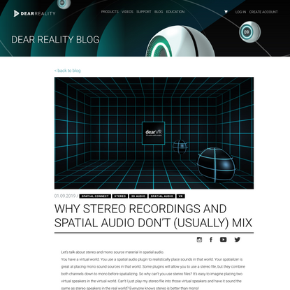 Why Stereo Recordings And Spatial Audio Don't (Usually) Mix