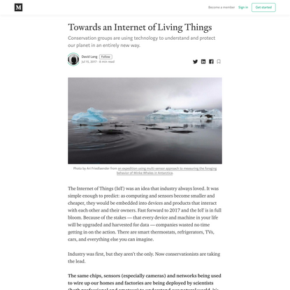 Towards an Internet of Living Things
