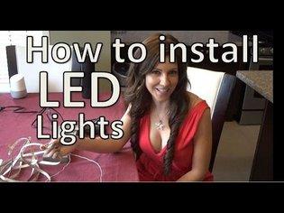 How to install LED Strip Lights - Under Cabinet LED Strip