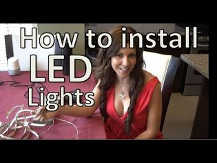 How to install LED Strip Lights - Under Cabinet LED Strip