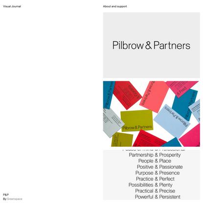 P&P – Visual Journal