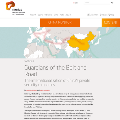 Guardians of the Belt and Road | Mercator Institute for China Studies