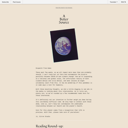 Issue 003: COVID-19 andClimate Change