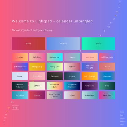 Lightpad Demo app