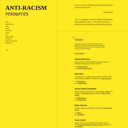 Home | Anti-Racism
