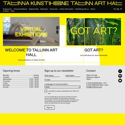 Tallinn Art Hall | Contemporary Art. Estonian Art.