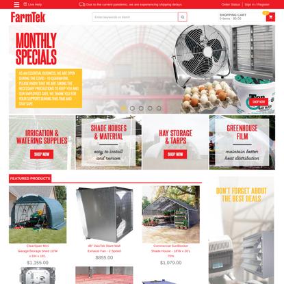 FarmTek - Hydroponic Fodder Systems, Farming & Growing Supplies, Hoop Barns, Poultry & Livestock Equipment, High Tunnels, Gr...