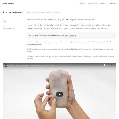 Marc Teyssier | Skin-On Interfaces