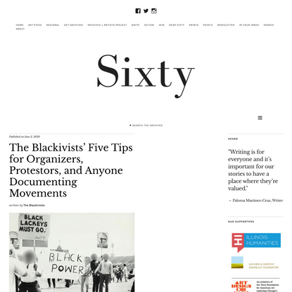 The Blackivists' Five Tips for Organizers, Protestors, and Anyone Documenting Movements - Sixty Inches From Center