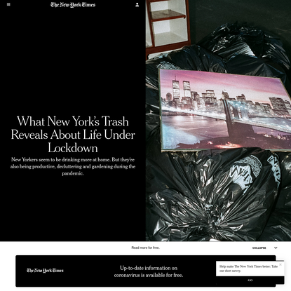 What New York's Trash Reveals About Life Under Lockdown