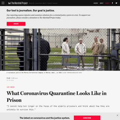 What Coronavirus Quarantine Looks Like in Prison