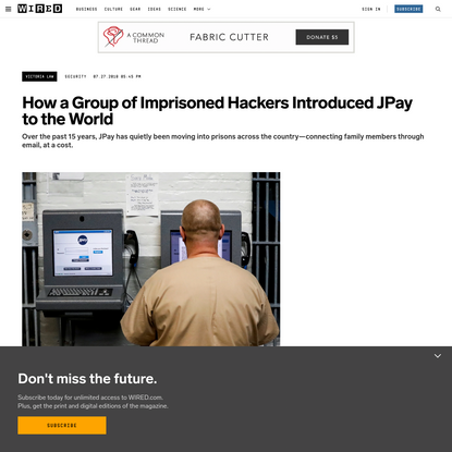 How A Group of Imprisoned Hackers Introduced JPay to the World