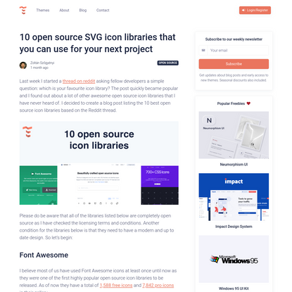 10 open source SVG icon libraries that you can use for your next project - Themesberg Blog
