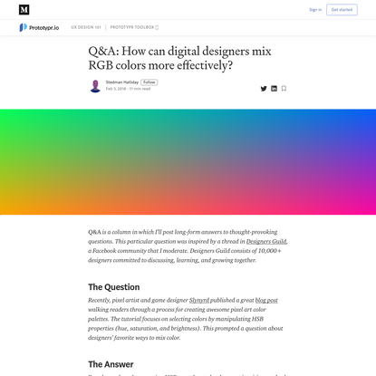 Q&A: How can digital designers mix RGB colors more effectively?