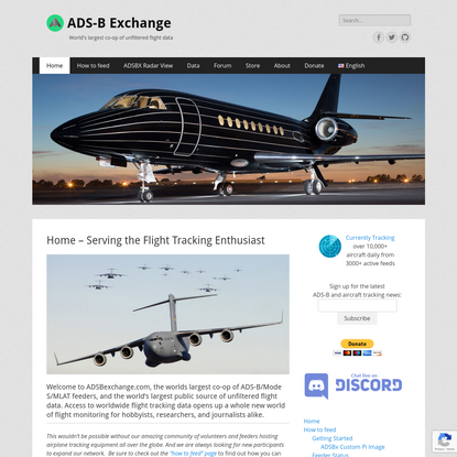 Home - Serving the Flight Tracking Enthusiast - ADS-B Exchange