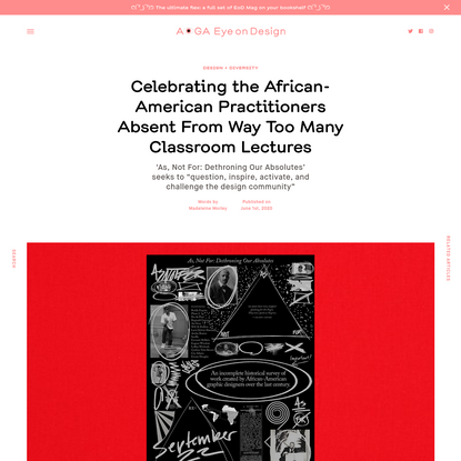 Celebrating the African-American Practitioners Absent From Way Too Many Classroom Lectures