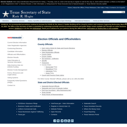 Election Officials and Officeholders