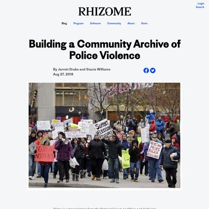 Building a Community Archive of Police Violence