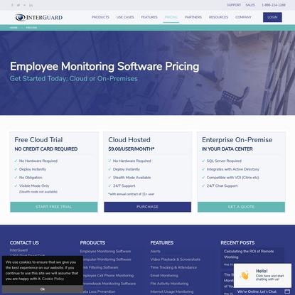 Pricing - Employee Monitoring Software - InterGuard