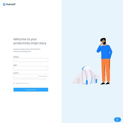 Create an account - Hubstaff