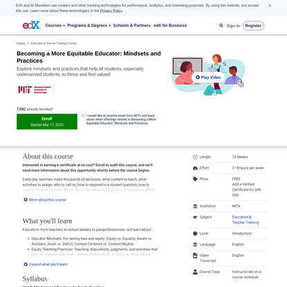 Becoming a More Equitable Educator: Mindsets and Practices
