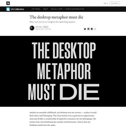 The desktop metaphor must die