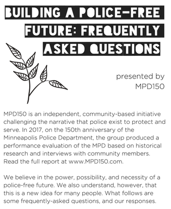Building a Police-Free Future: Frequently Asked Questions - presented by MPD150