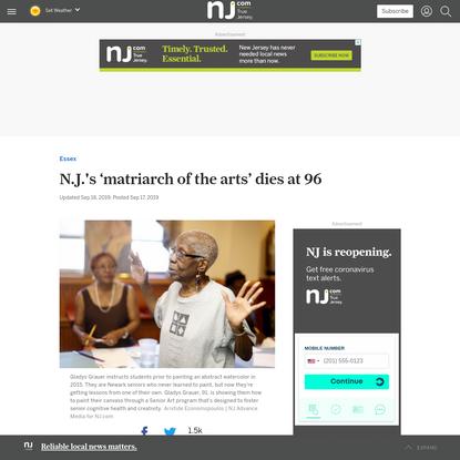N.J.'s 'matriarch of the arts' dies at 96