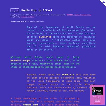 Media Pop Up Effect | Codrops