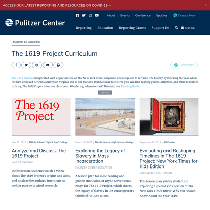 The 1619 Project Curriculum
