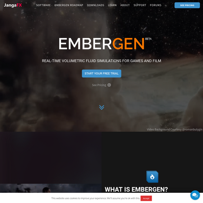 EmberGen: Real-Time Fluid Simulations For Fire, Smoke, And Explosions!