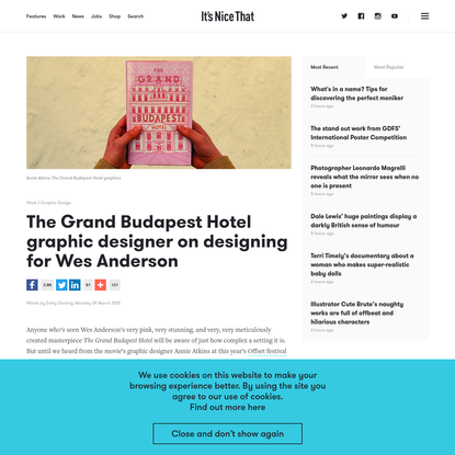 The Grand Budapest Hotel graphic designer on designing for Wes Anderson