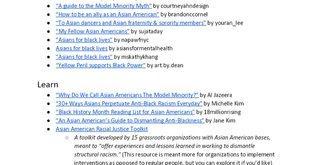 AAPI Resources on Anti-Blackness
