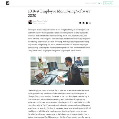 Best Employee Monitoring Software 2020